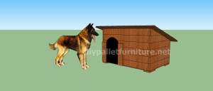 Project and plans to build a doghouse ​​with pallets13