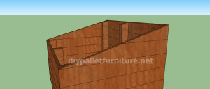 Project and plans to build a doghouse ​​with pallets7