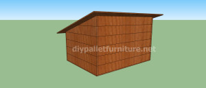 Project and plans to build a doghouse ​​with pallets8