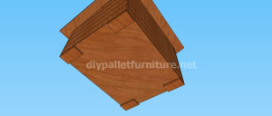 Project and plans to build a doghouse ​​with pallets9