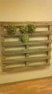 Vertical garden made with pallets2