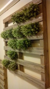 Vertical garden made with pallets6