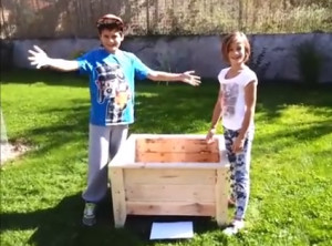 Video-guide on how to build a planter with pallets