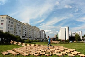 Brodno Theme park built with pallets in Targowek, Warsaw