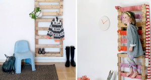 Coat rack easy to do with pallets and plans of the construction process1