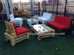 Garden furniture made with pallets