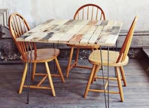 How to make a rustic-vintge table with pallet boards (12)