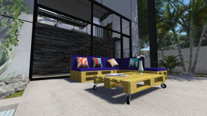 Instructions and 3D plans of how to make a sofa for the garden with pallets11