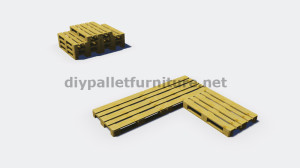 Instructions and 3D plans of how to make a sofa for the garden with pallets2