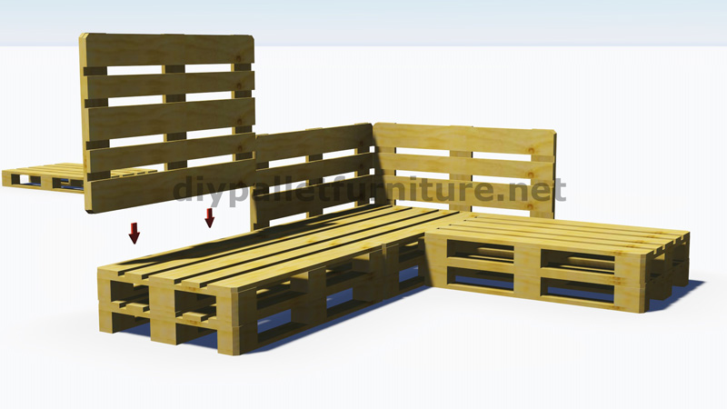 Instructions and 3D plans of how to make a sofa for the garden with ...