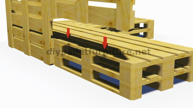 instructions and 3d plans of how to make a sofa for the garden with palletsdiy pallet furniture. Black Bedroom Furniture Sets. Home Design Ideas