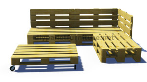 Instructions and 3D plans of how to make a sofa for the garden with pallets7