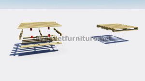Instructions on how to make a sliding door with pallets 2