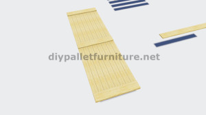Instructions on how to make a sliding door with pallets 4