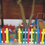 Kindergarten made ​​with pallets and plans of the process