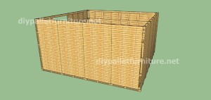 Plans and  video of how to make a house with pallets ( 2 of 3) (13)