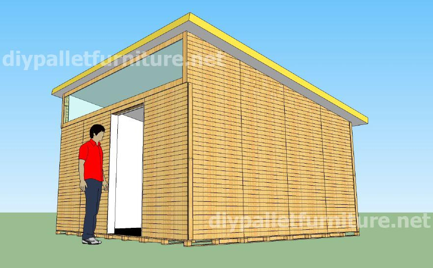plans and video of how to make a house with pallets 2 of