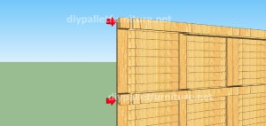 Plans and  video of how to make a house with pallets ( 2 of 3) (2)