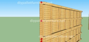 Plans and  video of how to make a house with pallets ( 2 of 3) (3)