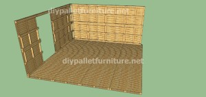 Plans and  video of how to make a house with pallets ( 2 of 3) (7)