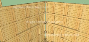 Plans and  video of how to make a house with pallets ( 2 of 3) (8)