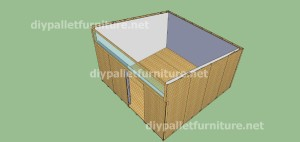 Plans and video of how to make a house with pallets ( 3 of 3) 9