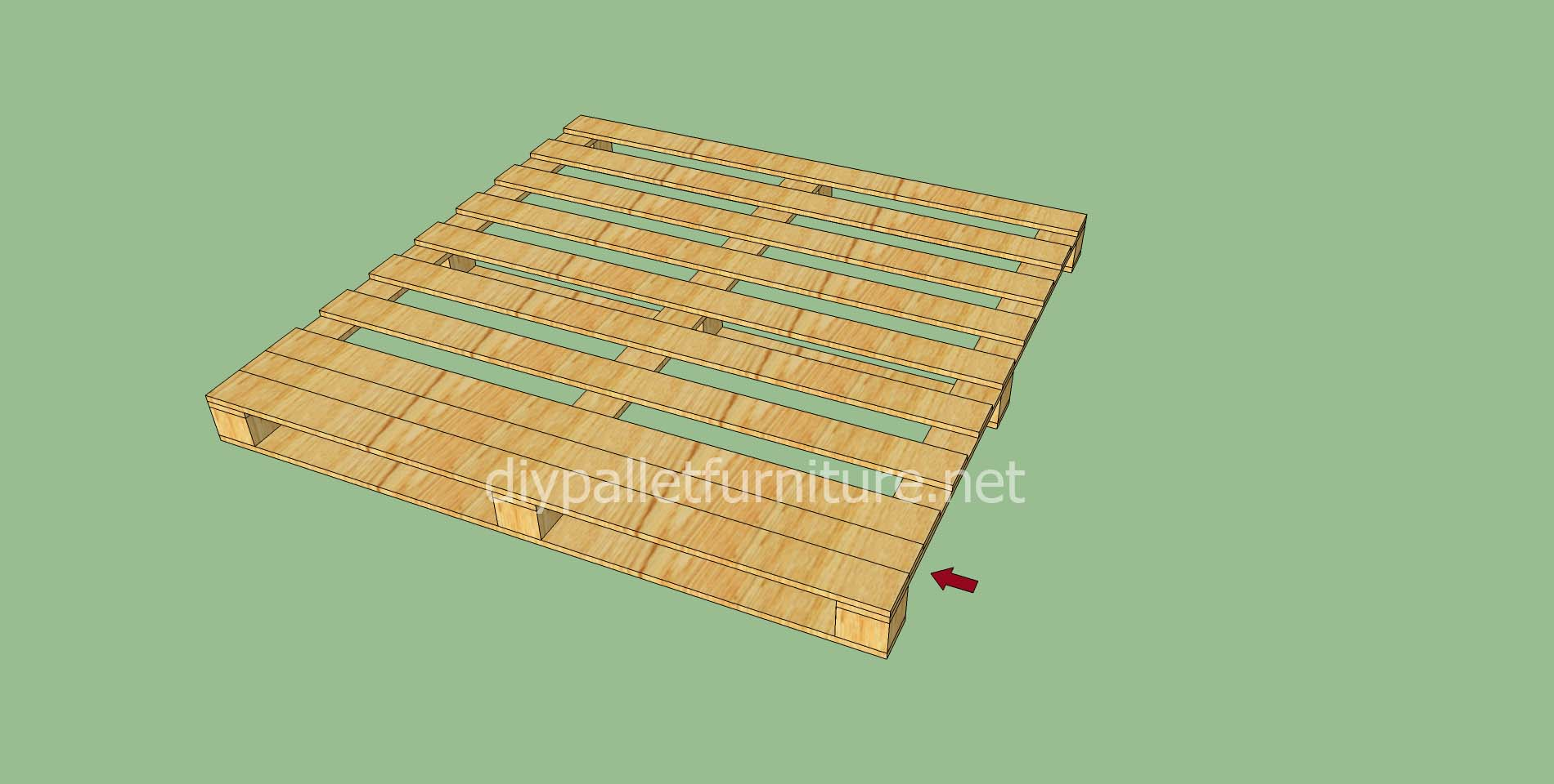 simple flooring made with wooden palletsdiy pallet furniture diy pallet furniture. Black Bedroom Furniture Sets. Home Design Ideas