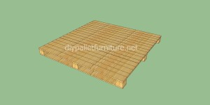 Simple flooring made with wooden pallets5 300x151 Simple flooring made with wooden pallets