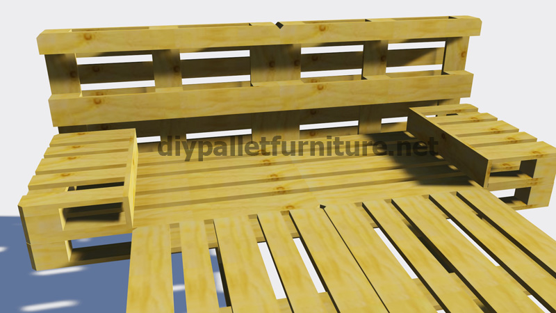 Instructions of how to make a bed with palletsdiy pallet furniture diy pallet furniture - Hacer una cama con palets ...
