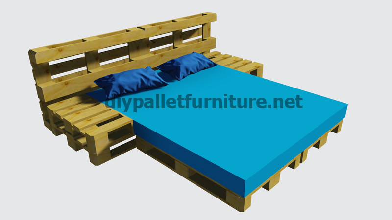 instructions of how to make a bed with palletsdiy pallet furniture diy pallet furniture. Black Bedroom Furniture Sets. Home Design Ideas