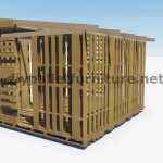 3D Plans to build a cabin or store with pallets