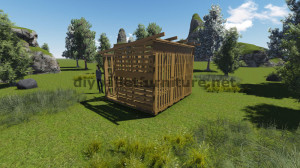 3D Plans for building a cabin or a store with pallets 11