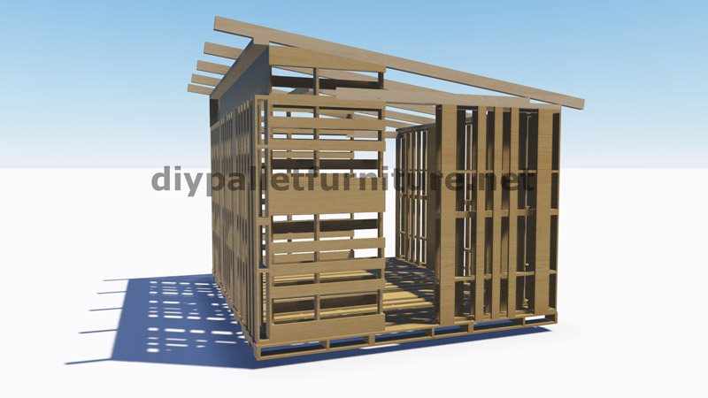 3D Plans for building a cabin or a store with pallets 2DIY Pallet Furniture | DIY Pallet Furniture