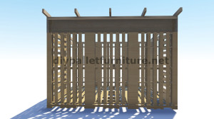 3D Plans for building a cabin or a store with pallets 3