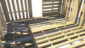 3D Plans for building a cabin or a store with pallets 6