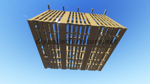 3D Plans for building a cabin or a store with pallets 7