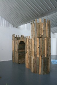 A castle made with pallets!