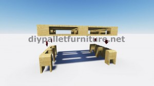 Cool table with only 2 pallets 4