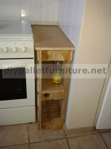 Custom kitchen cabinet made ​​with pallets