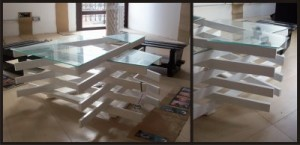 Design table made ​​with pallet boards 2