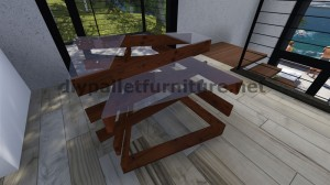 Design table made ​​with pallet boards 8
