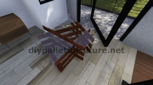 Design table made ​​with pallet boards 9