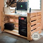 Amazing PC desk with 2 pallets