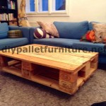 Floating table with pallets
