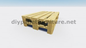 Floating table with pallets 3