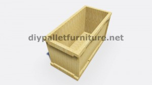 Instructions and 3D drawings of how to make a planter with pallets 10