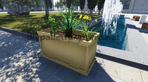 Instructions and 3D drawings of how to make a planter with pallets 11