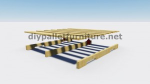 Instructions and 3D drawings of how to make a planter with pallets 2