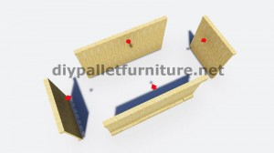 Instructions and 3D drawings of how to make a planter with pallets 7