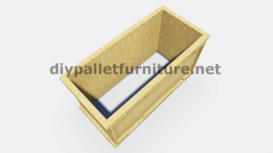 Instructions and 3D drawings of how to make a planter with pallets 8